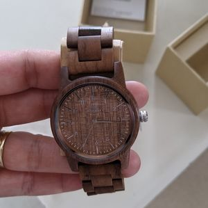 Other - NWT Mens Wooden Watch, in Walnut